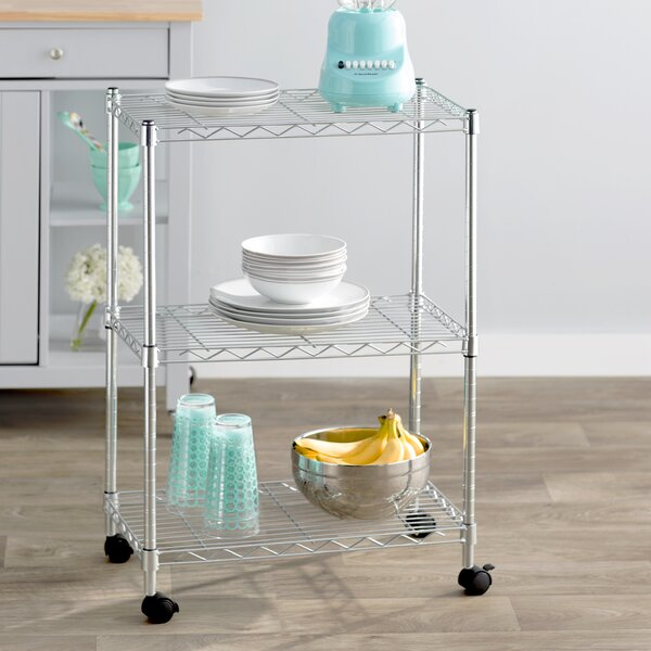 Wayfair Basics 3 Shelf Wire Shelving Unit by Wayfair Basics™