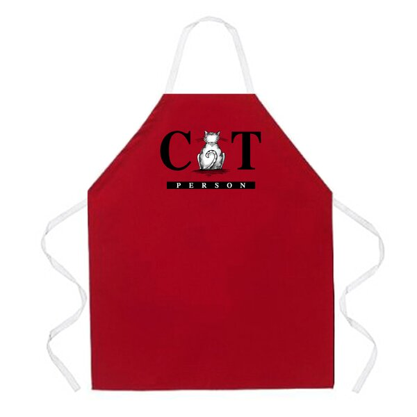 Cat Person Apron in Red by Attitude Aprons by L.A. Imprints