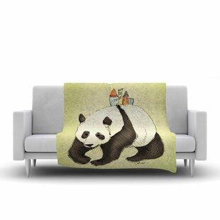 Inexpensive Carina Povarchik Happy Panda Animals Fleece Blanket ByEast Urban Home