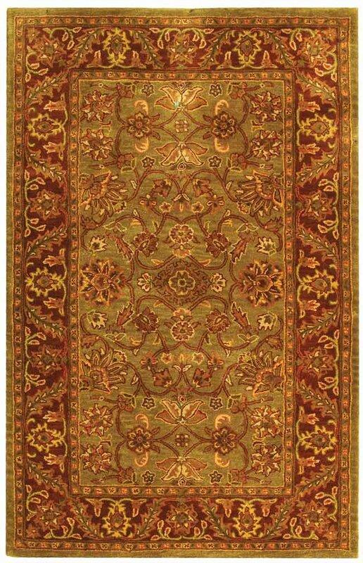 Safavieh Jaipur Hand Tufted Wool Green Rust Area Rug