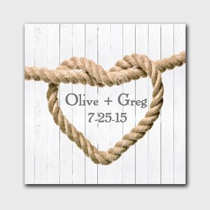 Personalized Tie the Knot Graphic art on Canvas by JDS Personalized Gifts