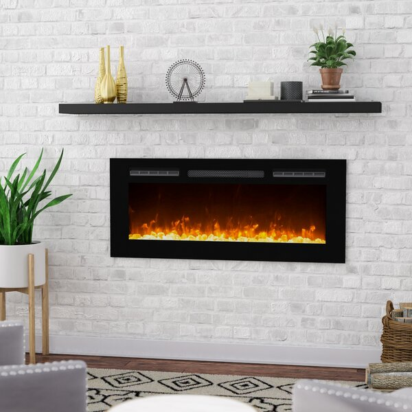 Review DeMotte Wall Mounted Electric Fireplace