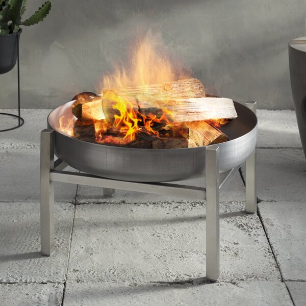 Parnidis Stainless Steel Wood Burning Fire Pit by Curonian
