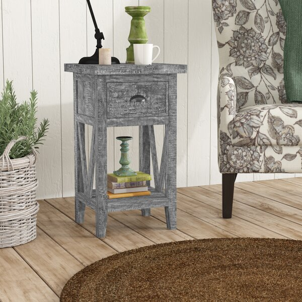 Taber End Table With Storage By August Grove
