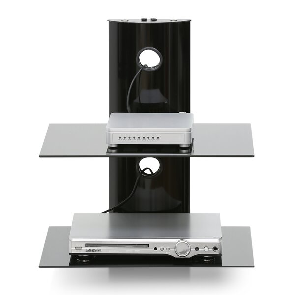 Modern Floating Wall Shelf for Media Accessories by Furinno