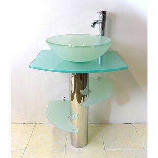 Affordable Glass Circular Vessel Bathroom Sink By Kokols