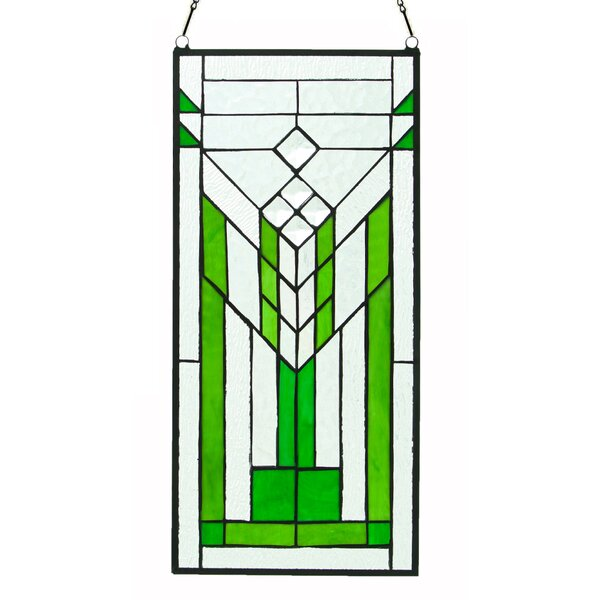 Stained Glass Mission Window Panel by Fleur De Lis Living