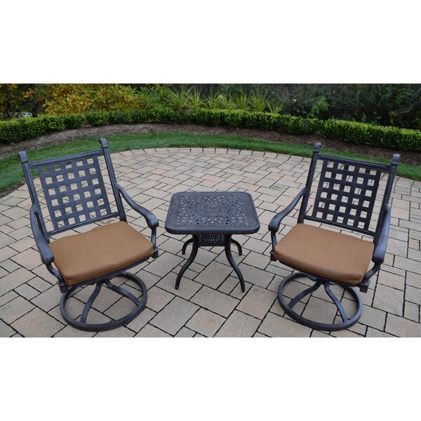Vandyne 3 Piece Sunbrella Conversation Set with Cushions by Darby Home Co