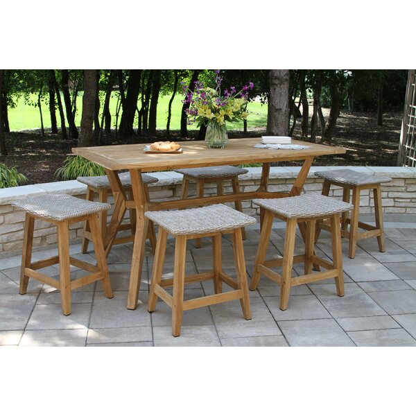 Quevedo 7 Piece Teak Dining Set by Gracie Oaks