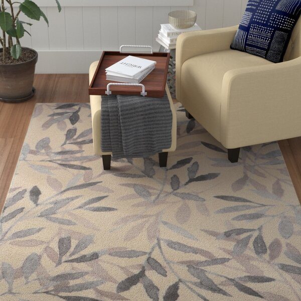 Duncombe Floral Gray Area Rug by Red Barrel Studio