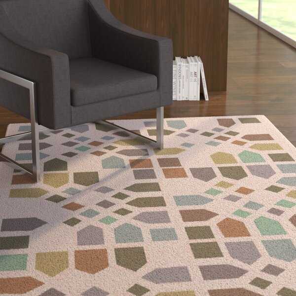 Abrielle Geometric Area Rug by Latitude Run