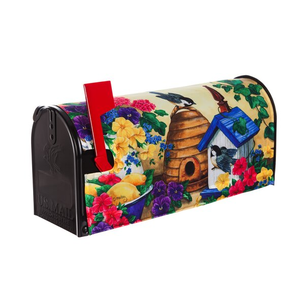 Feathers and Flowers Mailbox Cover by Evergreen Fl