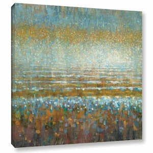 'Rains Over The Lake' Painting Print on Wrapped Canvas by Brayden Studio