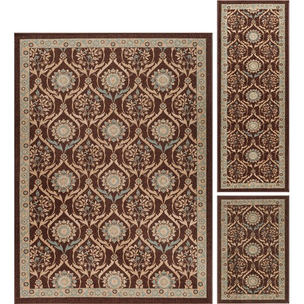 Masonville 3 Piece Brown Area Rug by Alcott Hill