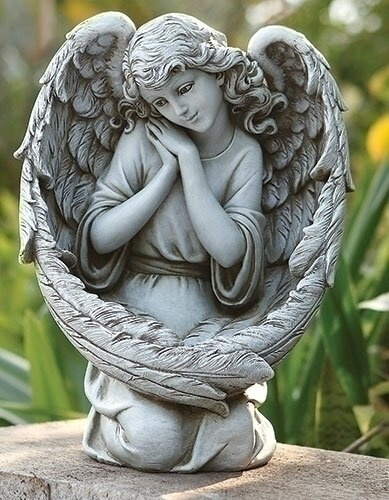 Angel Bird Feeder Wings Statue by Roman, Inc.