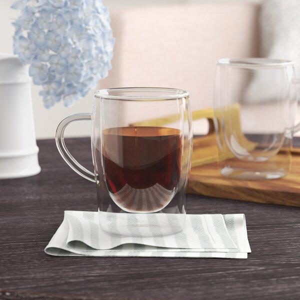 Innocenzio 10 Oz. Double-Wall Coffee Mug (Set of 2) by Mint Pantry
