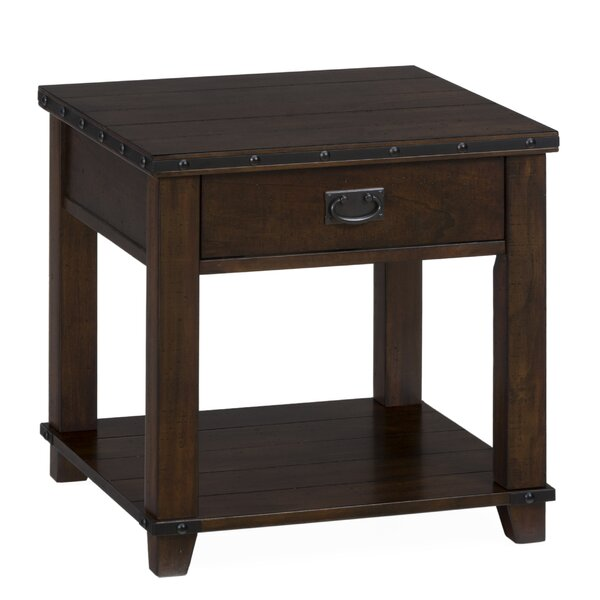 Georgiana Wooden End Table by 17 Stories