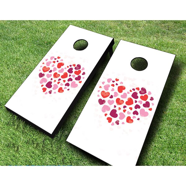 Hearts on Hearts Cornhole Set by AJJ Cornhole