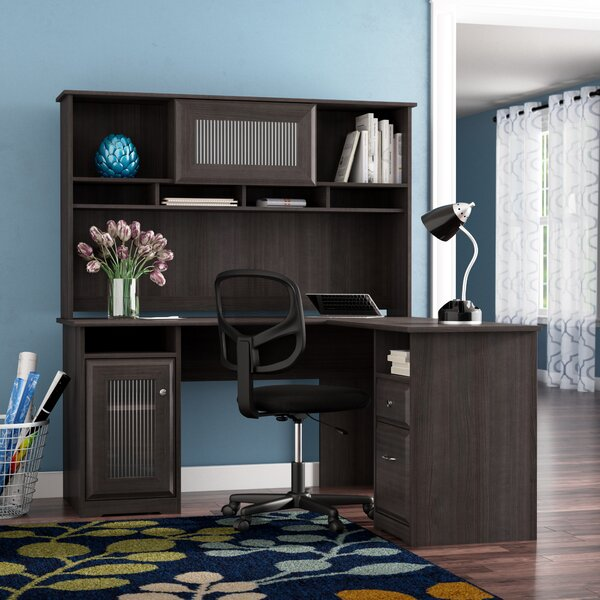 Hillsdale L-Shape Desk with Hutch by Red Barrel St