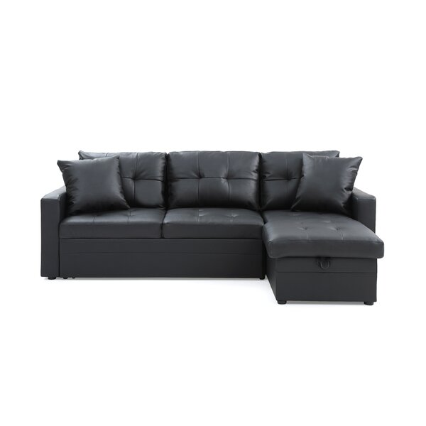 Top Brand Clarke Right Hand Facing Sleeper Sectional by Ebern Designs by Ebern Designs