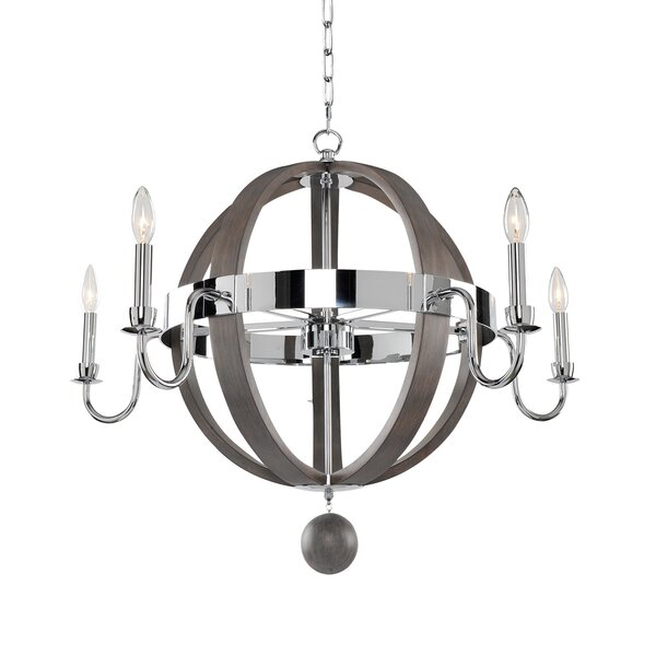 Griffie 5-Light Candle Style Wagon Wheel Chandelier by Union Rustic Union Rustic