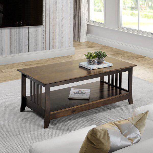 Bonelli Solid Wood Coffee Table With Storage By Red Barrel Studio