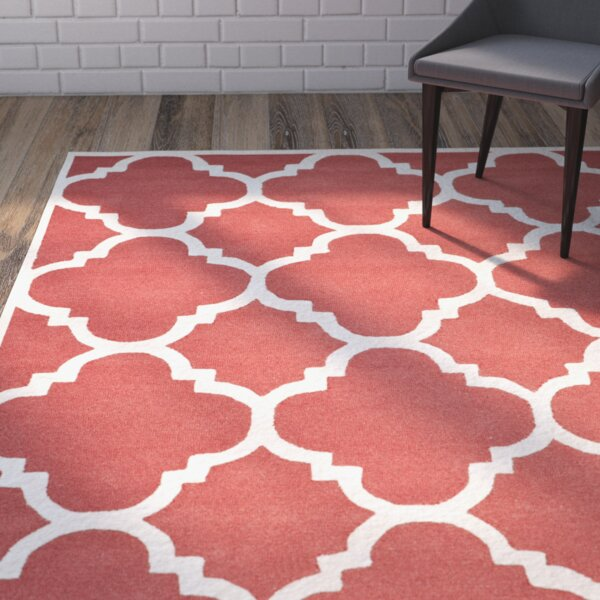 Martins Hand-Tufted Rust/Ivory Area Rug by Wrought Studio