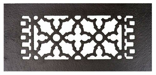 4 x 10 Iron Floor Register Trim in Black by Acorn