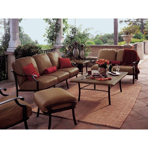 Montreux 4 Piece Deep Seating Group with cushions by Tropitone