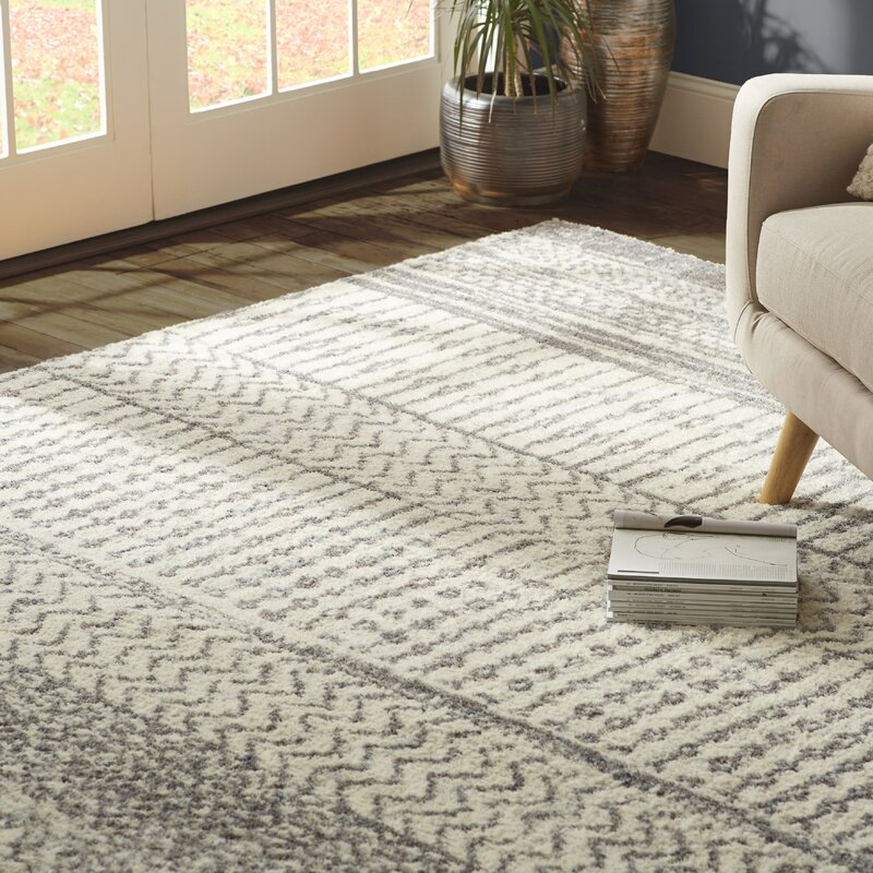 Danny Gray Ivory Area Rug