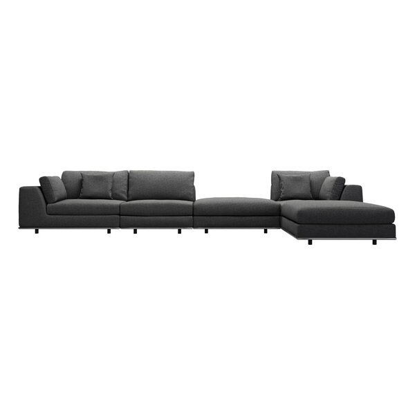 Syd Right Hand Facing Corner Sectional with Ottoman by Orren Ellis
