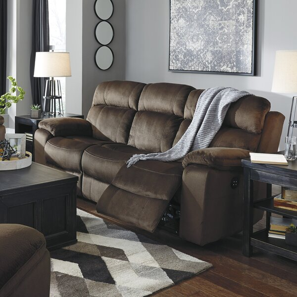 The World's Best Selection Of Bayat Power Adjustable Headrest Reclining Sofa by Loon Peak by Loon Peak