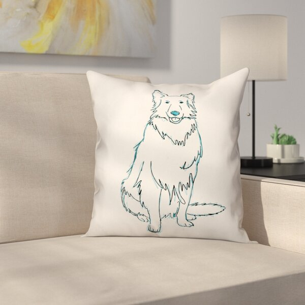 Shaggy Dog Throw Pillow in , Throw Pillow by East Urban Home