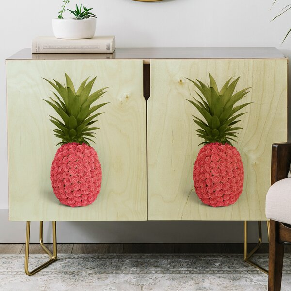 Paul Fuentes Pineapple Roses Credenza By East Urban Home