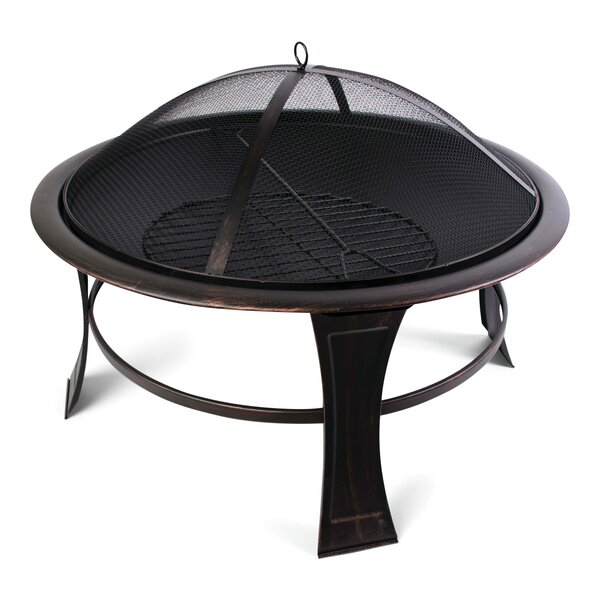 Savannah Steel Wood Burning Fire Pit by World Source Partners