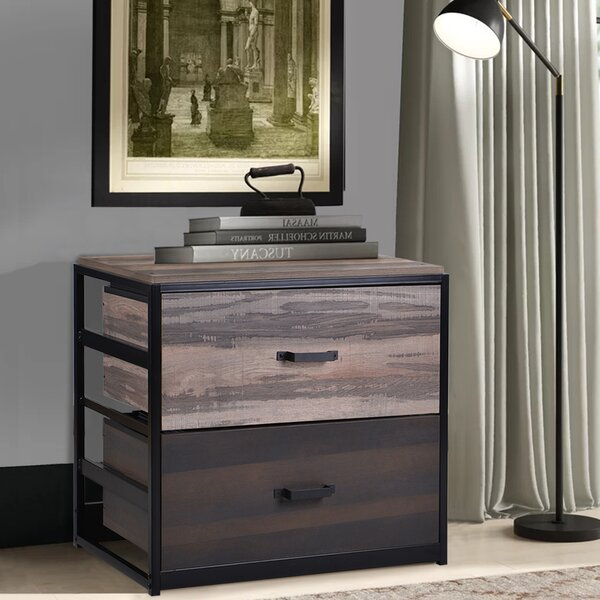 Zed Office Home MDF 2-Drawer Lateral Filing Cabinet