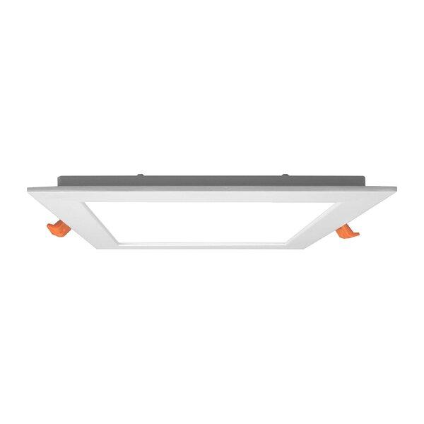 6 LED Edgelit Flat Panel Square Retrofit Downlight Recessed Housing by NICOR Lighting