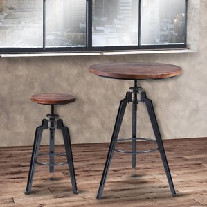 Cosmia Adjustable Pub Table by 17 Stories