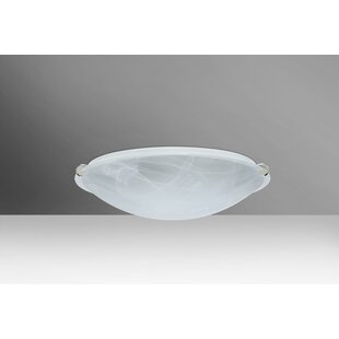 Great Price Trio 1-Light Outdoor Flush Mount By Besa Lighting