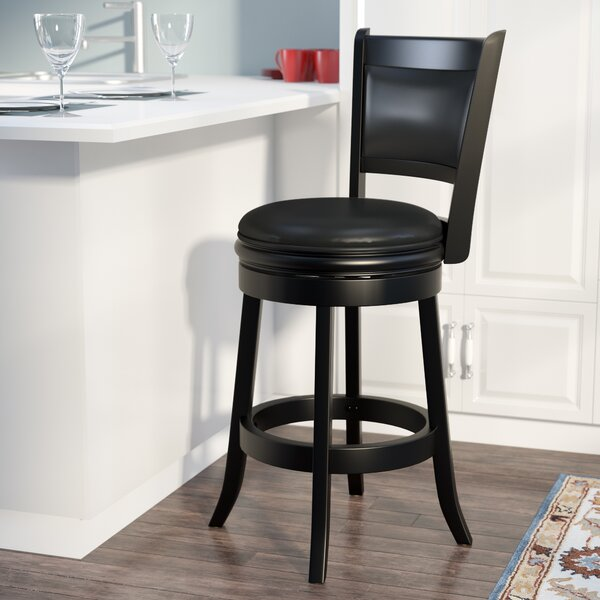 Godbold 24 Swivel Bar Stool by Three Posts
