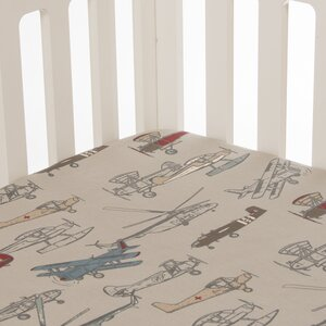 Fly-By Fitted Crib Sheet