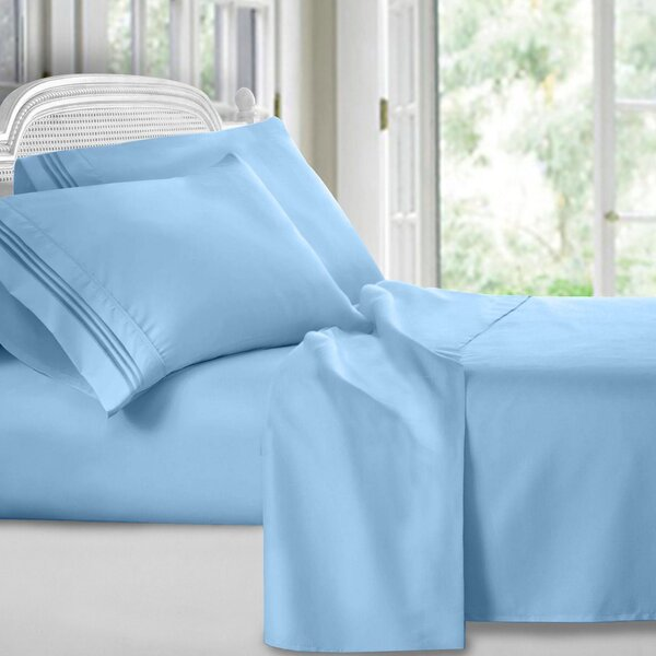 Harville Ultra-Soft Embroidery Microfiber 4 Piece Sheet Set by Charlton Home