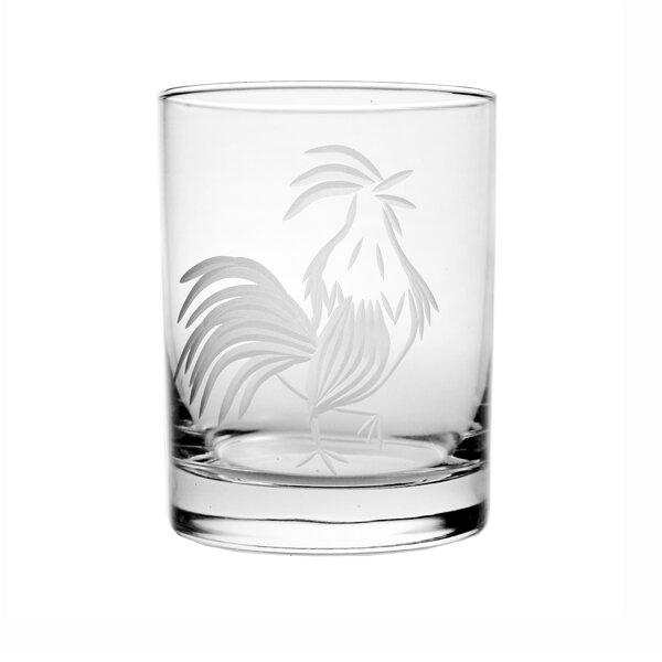 Rooster 14 oz. Double Old Fashioned Glass by Rolf Glass