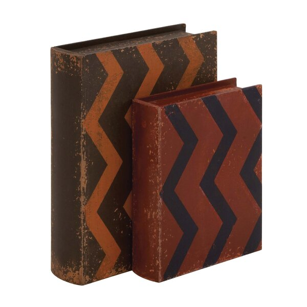Leather Book 2 Piece Decorative Box Set by Cole & Grey