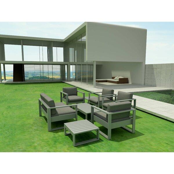 Granham 7 Piece Multiple Chair Seating Group with Sunbrella Cushions by Brayden Studio