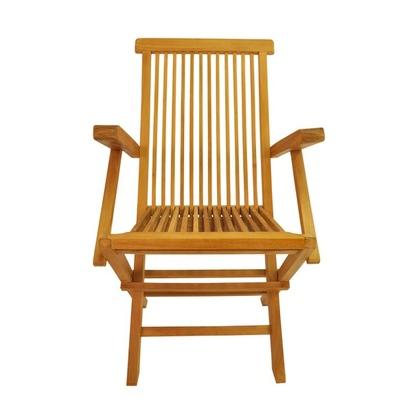 Bova Folding Teak Patio Chair (Set of 2) by Freeport Park