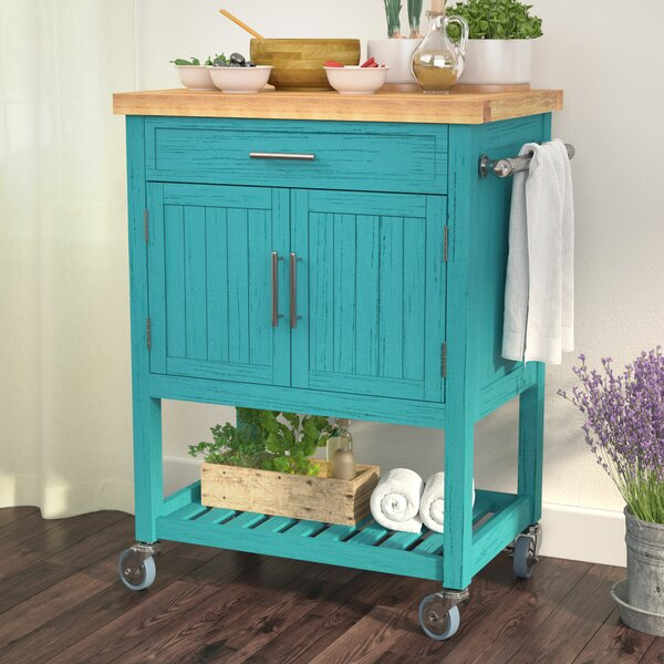 Matus Kitchen Cart Butcher Block by Highland Dunes