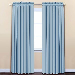 Insulated Solid Blackout Thermal Rod Pocket Curtain Panels (Set of 2)