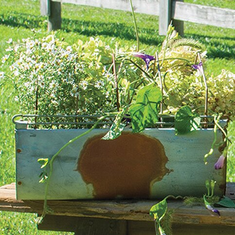 Vintage Metal Planter Box by The Hearthside Collection