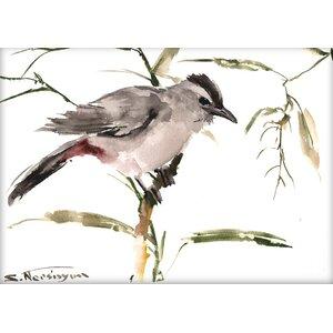 Grey Cat Bird by Suren Nersisyan Painting Print by Americanflat